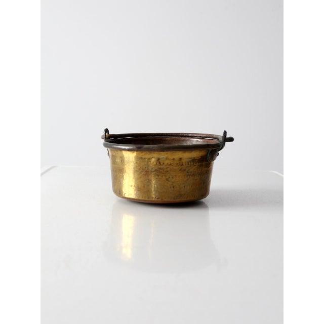 Antique Brass and Copper Hearth Pot