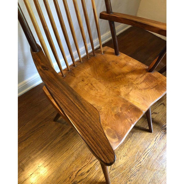 """Mid-Century Modern 1940s Vintage George Nakashima Style """"New"""" Chairs- A Pair For Sale - Image 3 of 6"""