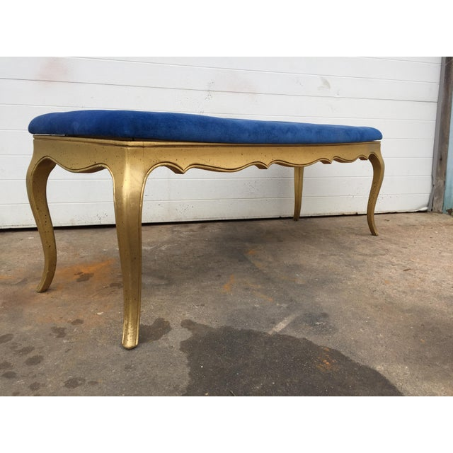 Hollywood Regency Style Gold Gilt Bench - Image 4 of 7