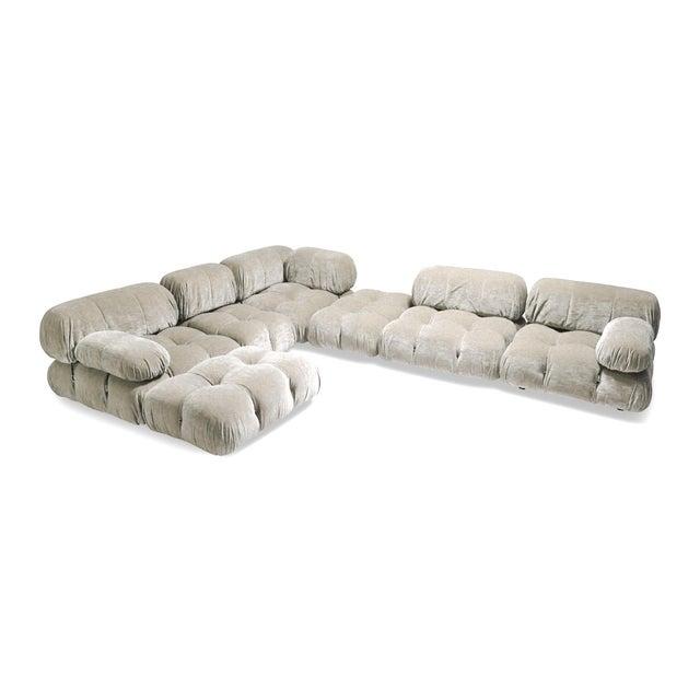Italian Velvet Sectional Sofa Model 'Camaleonda' by Mario Bellini For Sale - Image 3 of 5