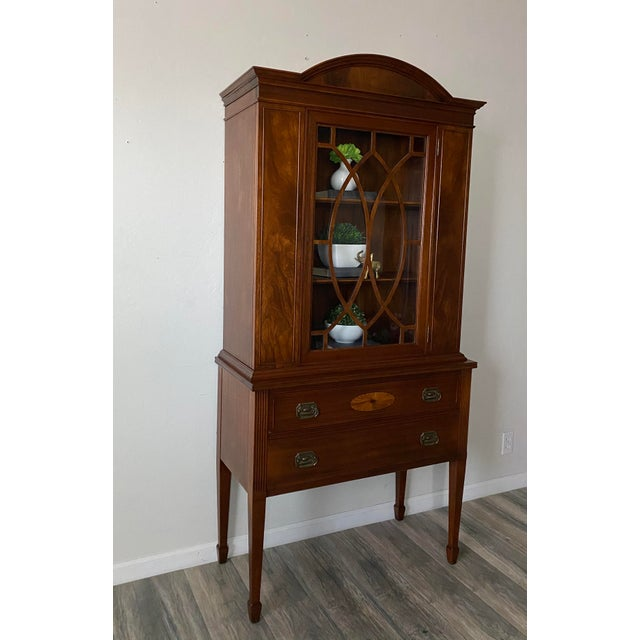 Gorgeous and pristine federal style depression cabinet. Gorgeous wood grain with two drawers for storage, and amazing...