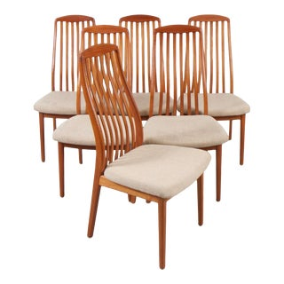 Benny Linden Teak Dining Chairs For Sale