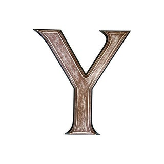 "Large 18"" Vintage Wooden Marquee Letter Y"