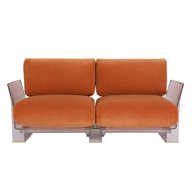 Modern Pair of Lucite Love Seats/ Sofas by Piero Lissoni for Kartell For Sale - Image 3 of 13