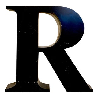 Vintage Metal Letter R For Sale