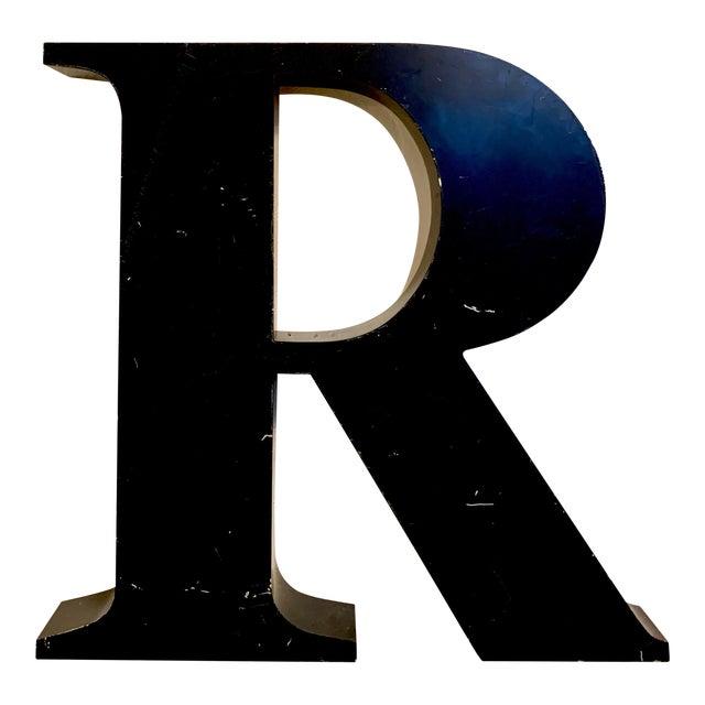 Vintage Metal Letter R For Sale