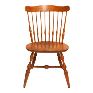 Antique Late 20th Century Nichols & Stone Solid Maple Side Chair For Sale
