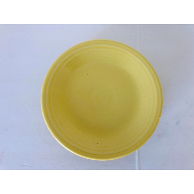 Modern Fiesta Ware Yellow Bread Plates S-4 For Sale - Image 3 of 5