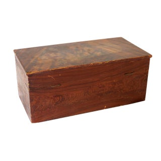 Mid 19th Century Antique Painted Pine Document Box For Sale