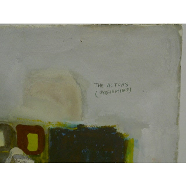 """Original Painting on Paper """"The Actors (Performing)"""" by Javier Cabada For Sale - Image 5 of 8"""