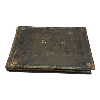 Antique French Personal Leather Journal For Sale