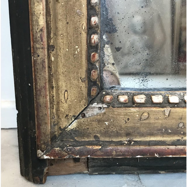 Neoclassical 18th Century Carved Giltwood French Mirror For Sale - Image 3 of 6