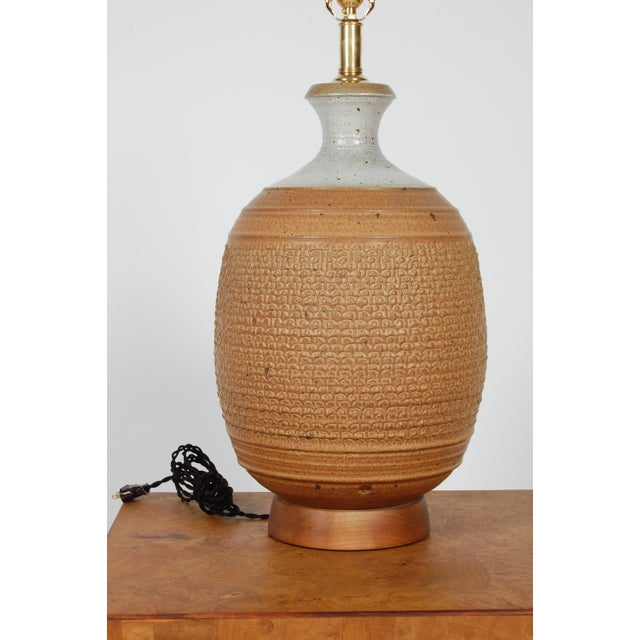 Studio Ceramic Lamp by Phil Barkdoll - Image 4 of 8