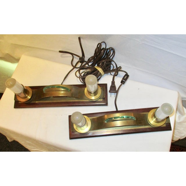 French Art Deco Shelf Lamps - A Pair For Sale - Image 5 of 7