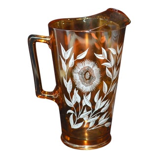 "Jeannette Glass ""Cosmos"" Pitcher For Sale"