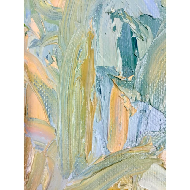 1970s Abstract Juan Guzman Palm Trees Landscape Oil Painting For Sale - Image 9 of 10