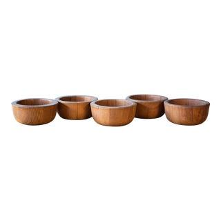 1970s Jens Quistgaard for Dansk Teak Wood Bowls - Set of 5 For Sale
