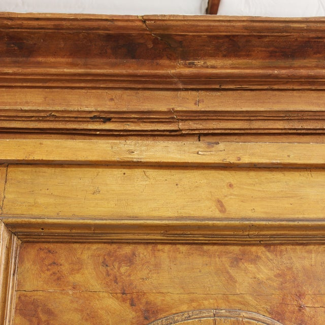 Brown Grand Antique 17th Century Tuscan Armoire For Sale - Image 8 of 13