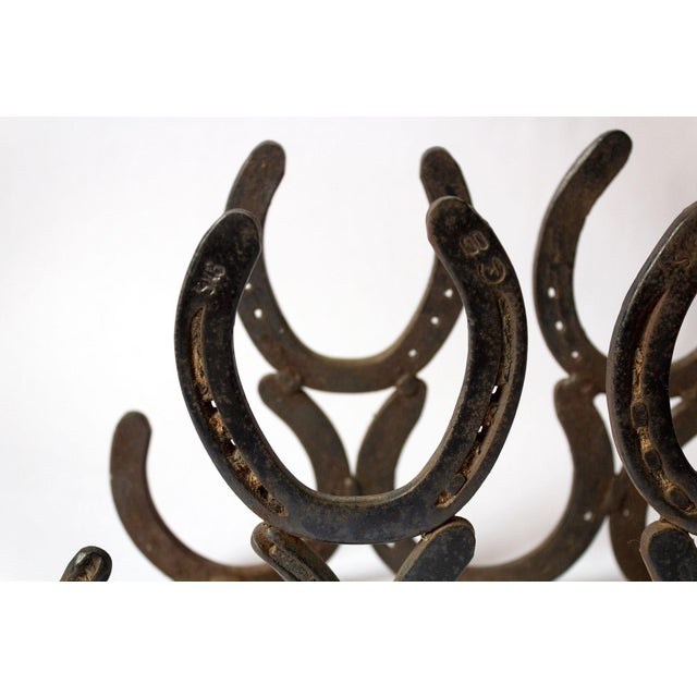 Vintage Horseshoe Wine Rack For Sale In Dallas - Image 6 of 8
