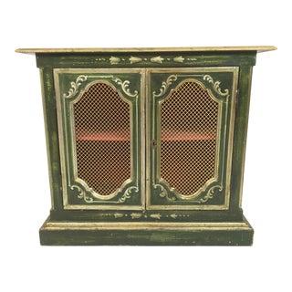 1960s Vintage Venetian Painted Bookcase For Sale