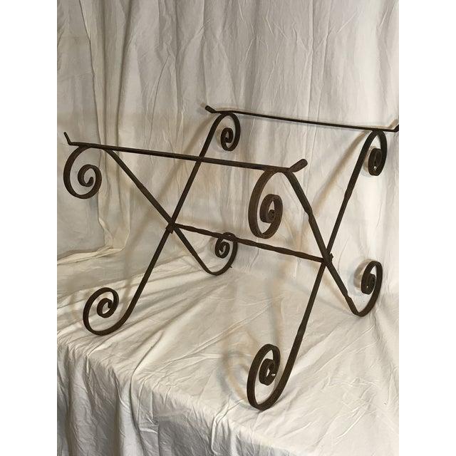 Antique Wrought Twisted Iron Table Base - Image 10 of 11