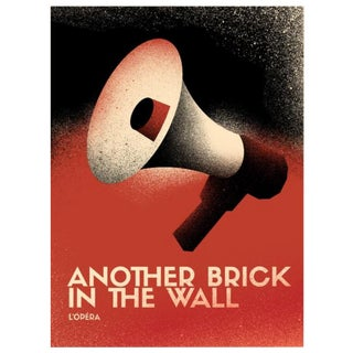 2017 Contemporary Pink Floyd Poster - Another Brick in the Wall Opera, Megaphone For Sale