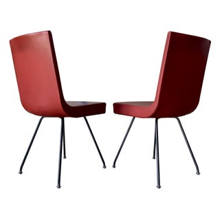 Vintage Gijs Papavoine for Jim Montis Italian Modern Leather Chairs- A pair Preview