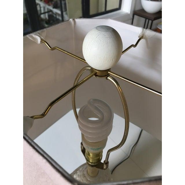 White Mid-Century Ceramic Happy Buddha Lamp For Sale - Image 12 of 13