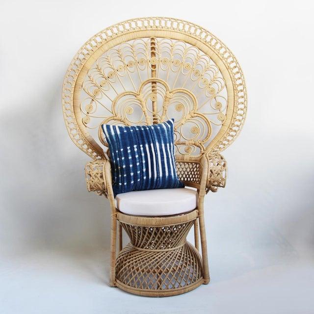 Matahari Raw Rattan Peacock Chair Chairish