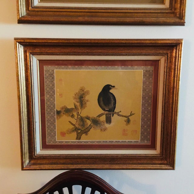 """Pair antique Chinoiserie Framed Prints Measures 20 x 2 x 24"""" Beautifully framed perfect for the space that needs something..."""