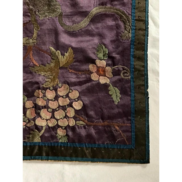 Chinese Embroidered Silk Textile-Runner For Sale - Image 10 of 12