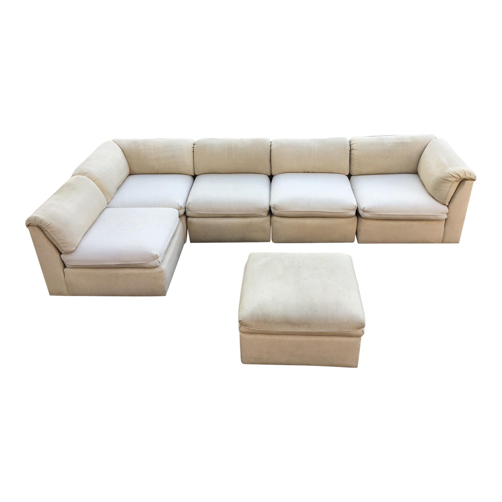Brilliant Dansen Contemporary 6 Piece Sectional Sofa Gmtry Best Dining Table And Chair Ideas Images Gmtryco