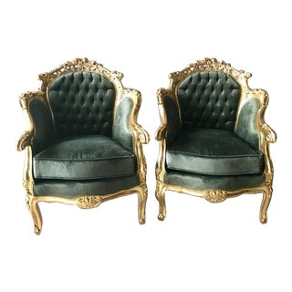 French Baroque Chairs - A Pair For Sale