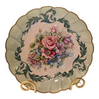 Vintage Limoges, France T. Burroughs Scalloped Bowl For Sale