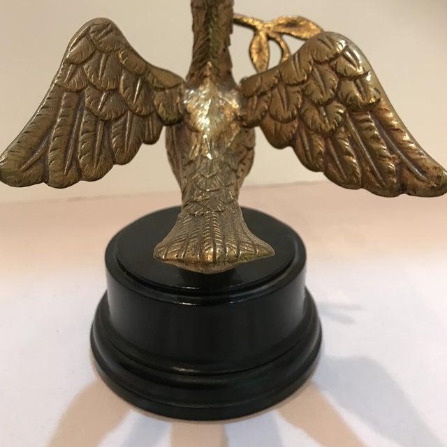 Art Deco 1950s Art Deco Brass Decorative Bird Figurine For Sale - Image 3 of 8