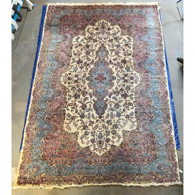 Semi Antique Oversized Persian Kerman Rug - 12′ × 18′ For Sale - Image 12 of 12