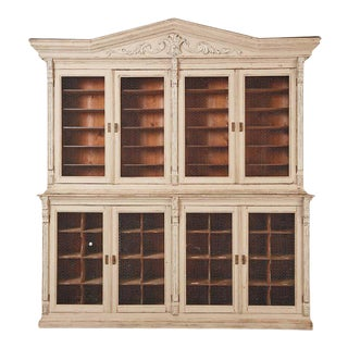 19th Century Swedish Gustavian Style Pine Library Bibliotheque Bookcase For Sale