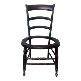 Antique Walnut Ladder Back Chair