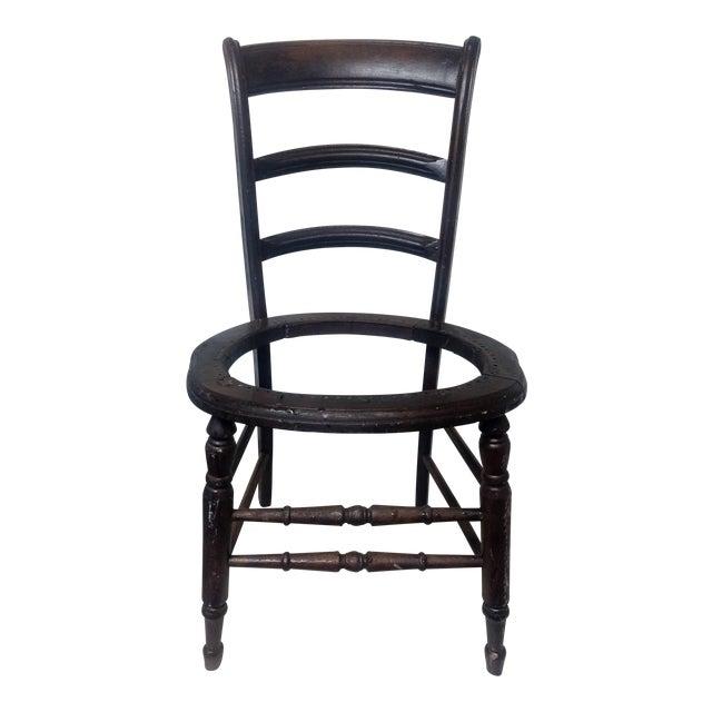 Antique Walnut Ladder Back Chair - Image 1 of 5