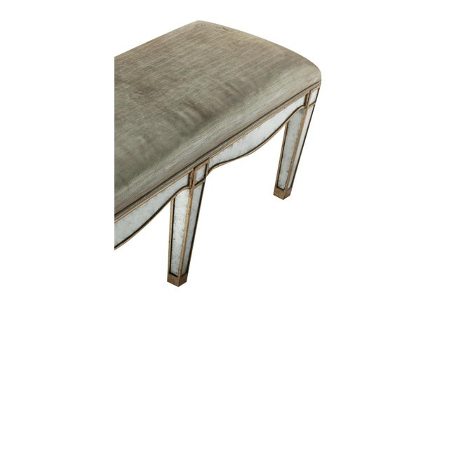 Modern Giltwood Eglomise Mirrored Bench For Sale - Image 3 of 5