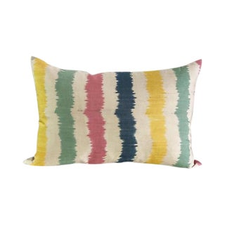 Kim Salmela Turkish Silk Ikat Lumbar Pillow For Sale