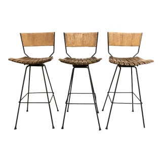 1960s Vintage Arthur Umanoff Bar Stools- Set of 3 For Sale