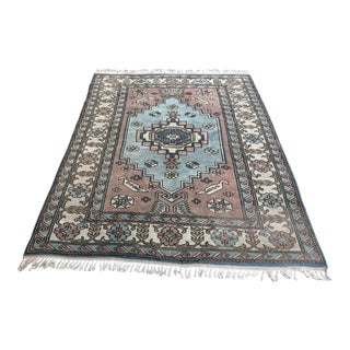 1960s Handmade Anatolian Wool Tribal Wool Rug For Sale