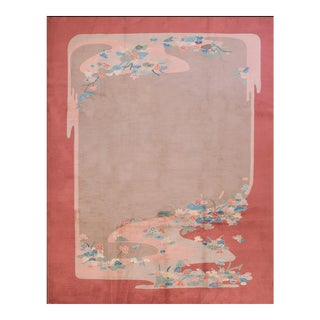 1920s Antique Chinese Art Deco Rug-9′2″ × 11′9″ For Sale