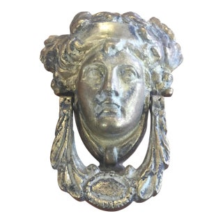 Classic Head Brass Door Knocker For Sale