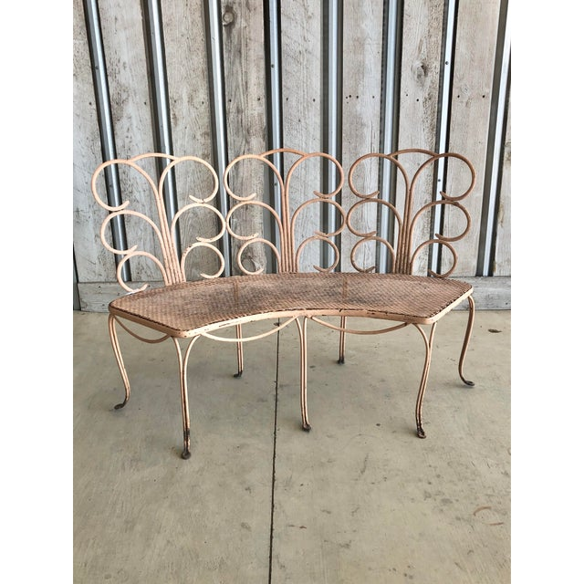 1960s Midcentury French Garden Bench For Sale - Image 5 of 5