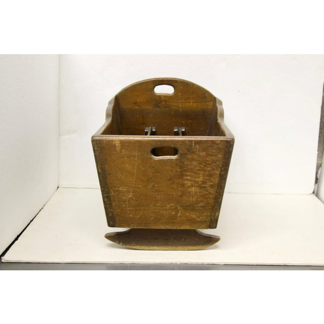 Late 19th C. Antique Rocking Cradle Rack For Sale - Image 4 of 7