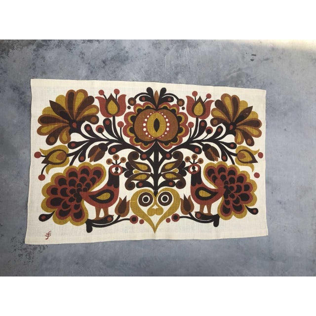 Södahl/Sodahl Denmark Peacock and Floral Wall Tapestry For Sale - Image 12 of 12