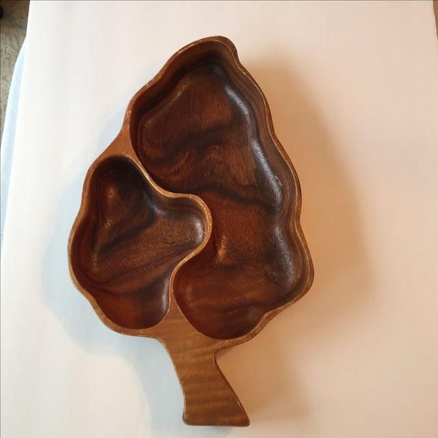 Wood Leaf Chip & Dip Bowl - Image 7 of 11