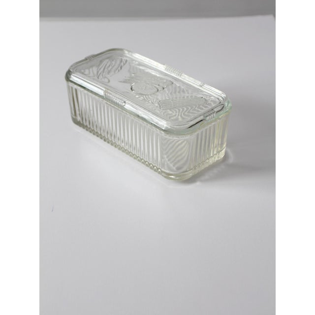 Depression Glass Refrigerator Dish For Sale - Image 9 of 9